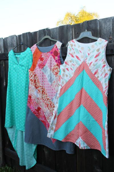 three different dresses