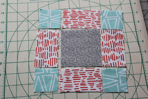 lay out fabric pieces