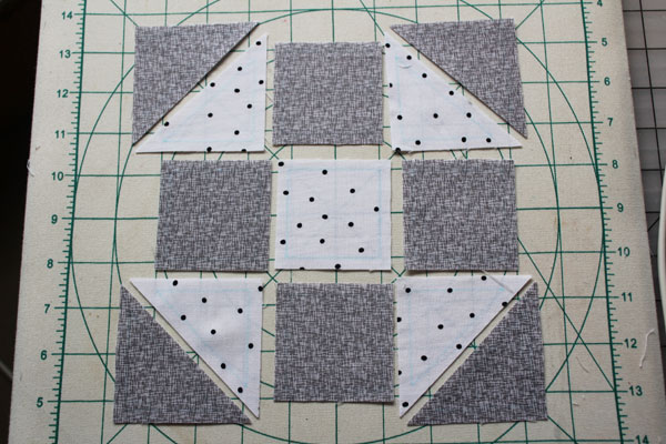 lay out the shoo fly block