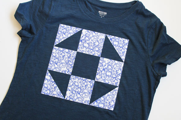 Simple DIY Quilt Block Tee