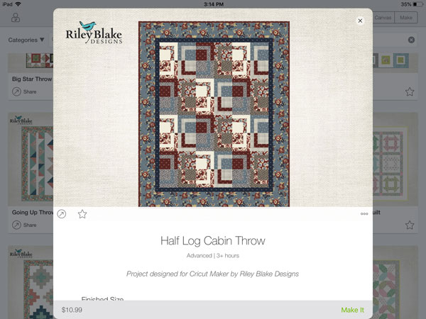 Riley Blake Half Log Cabin Quilt Pattern
