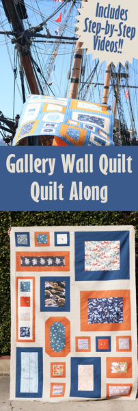 The Gallery Wall Quilt Along - 6 weeks with Step-by-step videos!