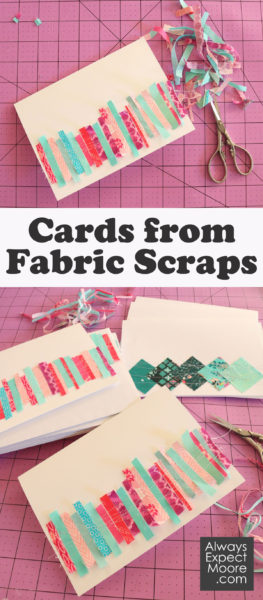 Cards from fabric scraps