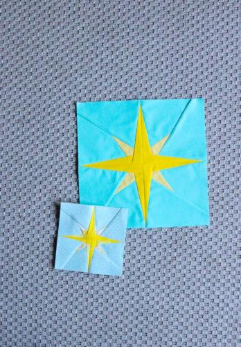 North Star Quilt Block - Free Foundation Paper Piecing Pattern