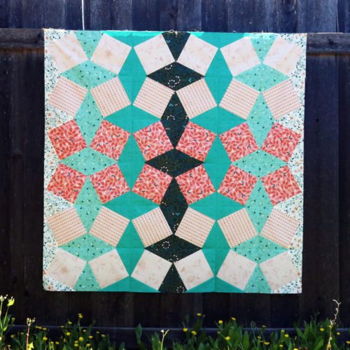 Close cropped square image of the Turned Up Quilt Pattern