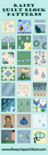 Rainy Day Quilt Block Patterns