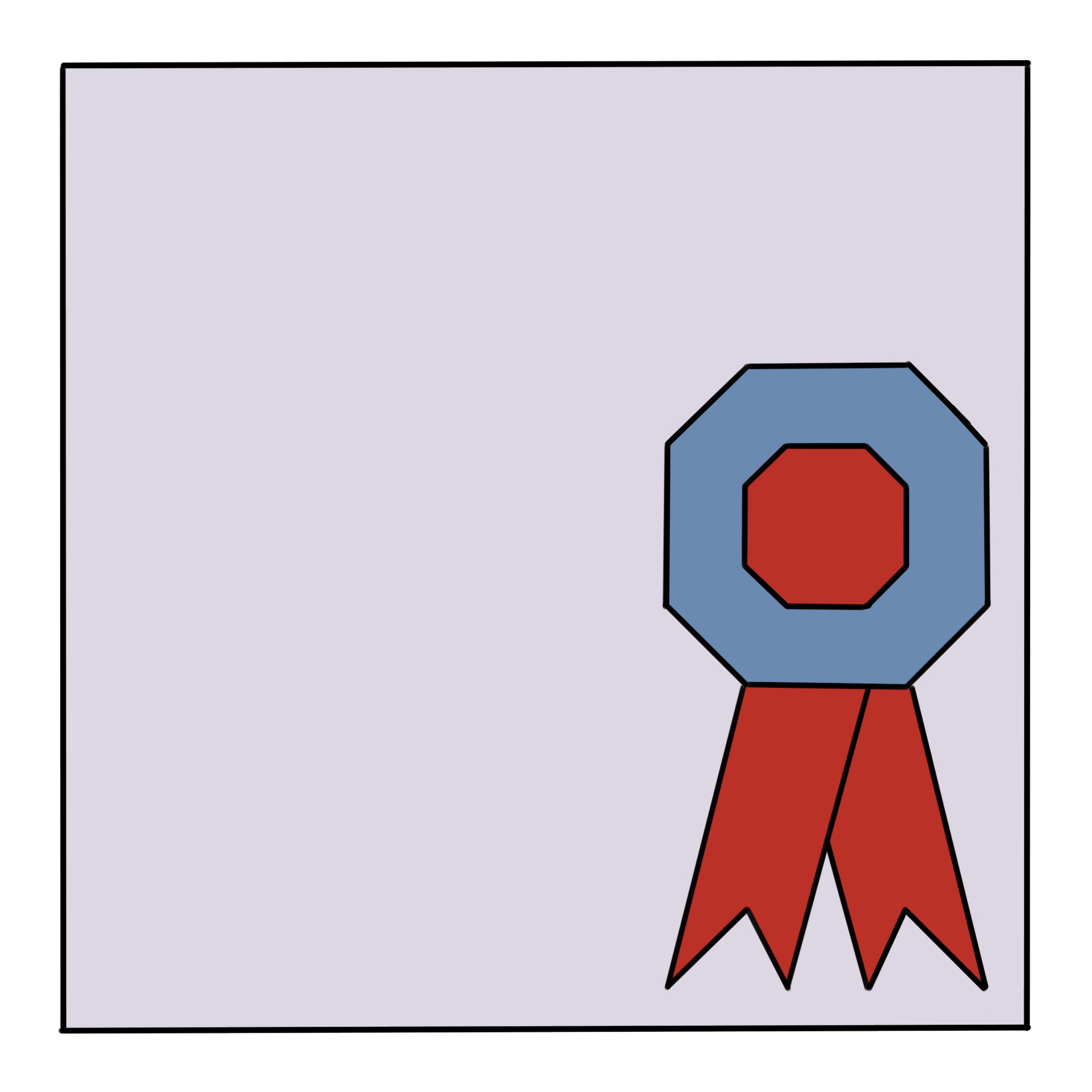 Award Ribbon Quilt Block