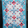 Sparker Quilt Pattern - a chaotic mix of red white and blue that manages to look orderly